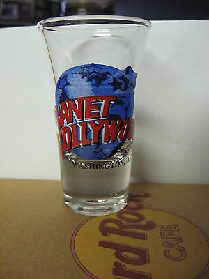 Planet Hollywood Shooter Shot Glass Black Lettering WASHINGTON DC