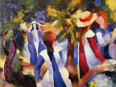 Turkish Cafe by August Macke Giclee Fine ArtPrint Reproduction on Canvas