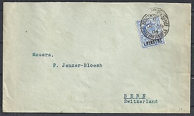 British Levant 1906 cover Constantinople to Bern
