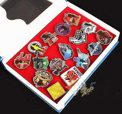 Anime Detective Conan 16PCS Color Pins Badge Figure Toy Metal New In Box