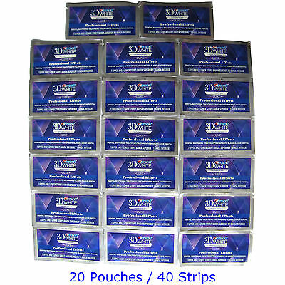 Crest3D Professional Effects Bandes LUXE Pro Blanchiment 40 Strips 20 Pouches
