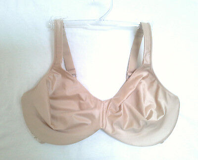 BALI COMFORT INDULGENCE Underwire Bra with Lace 3508 NUDE/GRAY 36DD NWOT