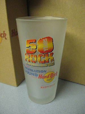 NEW Hard Rock Cafe 1954-2004 Beer Pepsi Glass HRC 50 Years Of Rock NASHVILLE