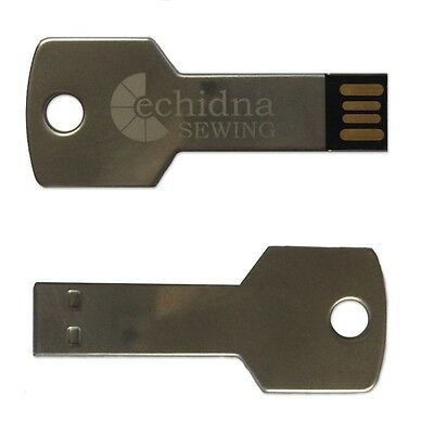 Ideal For Embroiderers - 8Gb Silver Embroidery Usb Thumb Drive