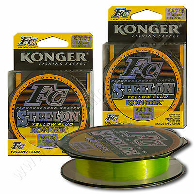 Fluorocarbon Coated Mono Fishing Line 150m High Visibility Yellow Pike Perch