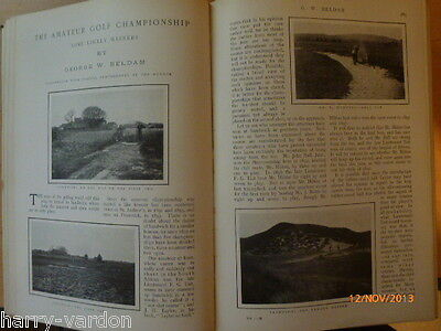 Old illustrated Articles Amateur Golf Championship 1904 Sandwich & Trout Fishing