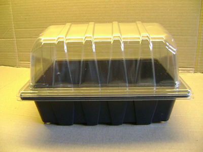 10 Half Size Seed Trays And 10 Clear Propagator Tops ( Lids ) Excellent Value
