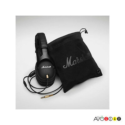 New!! Marshall Monitor Over-the-Ear Stereo Headphones. Detachable Cable. Black.