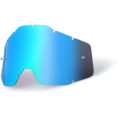 100% Percent Goggles Mx Gear RaceCraft, Accuri & Strata Lense Blue Mirror Lens
