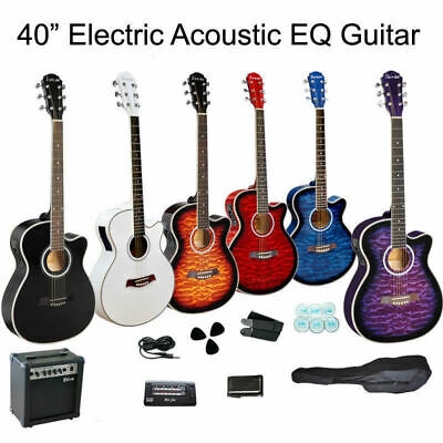 New Multiple Pickup Electric Guitar BK With amp Set
