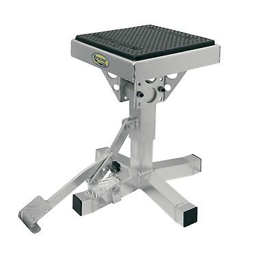 Motorsport Mx P-12 Motorcycle Motocross Dirt Bike Silver Adjustable Lift Stand