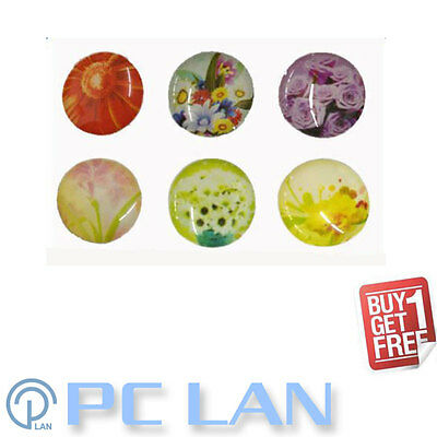 6 PCS Flower Plant Floral Pattern Home Button Sticker for iPad 1/2/3/4 FREE GIFT