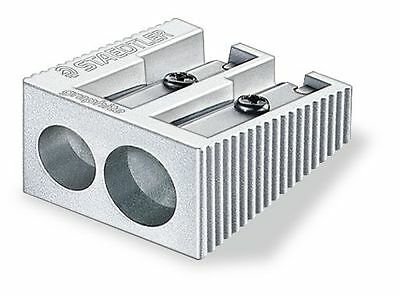 STAEDTLER DOUBLE HOLE METAL PENCIL SHARPENER HEAVY DUTY x 1 - Very long life