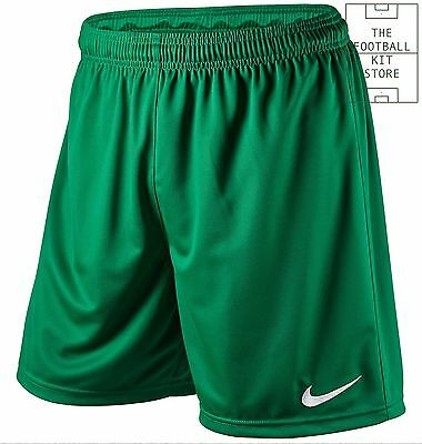 Official Nike Park Football Shorts - Mens Training Wear - Green - All Sizes