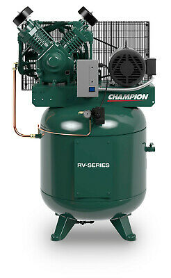 Best Champion 7.5 Hp Single Phase Air Compressor Aftercooler, Auto Drain,