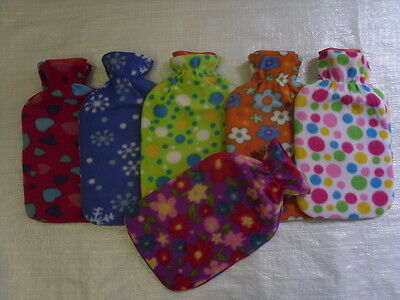 NEW 2L HOT WATER BOTTLE with FLEECE COVER LARGE 2 LITRE BS STANDARD