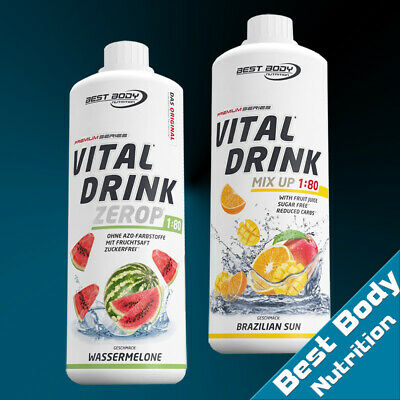 10,00€/Ltr.) Best Body Nutrition 2 x 1000ml  Low Carb Vital Drink Mineraldrink