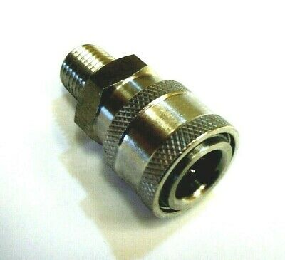 "Pressure Washer  Quick Connect Coupler 1/4"" male  6000 psi 303 Stainless Steel"