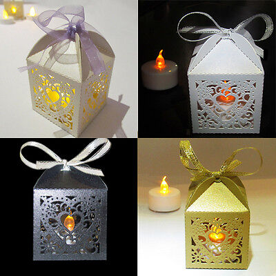 48 x LED TEA LIGHT TEALIGHT WEDDING CANDLE HOLDERS LANTERNS ELECTRONIC PARTY