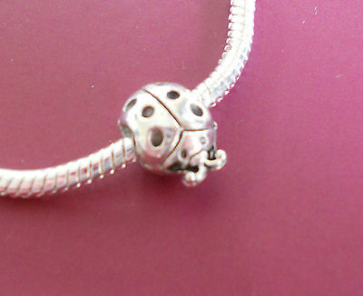 One LADYBUG European Charm Spacer Bead For Jewelry Bracelet Read Details