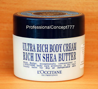 L'OCCITANE ULTRA RICH BODY CREAM 25% SHEA BUTTER FOR DRY OR DEHYDRATED SKIN NEW