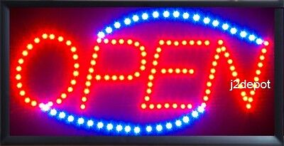 US Seller Animated Led Neon light OPEN Sign on/off Switch/Chain, has more bulbs