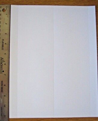 """5 sheets (50 cards) blank Business Card Stock 3.5""""x2"""" -- Inkjet/Laser compatible"""