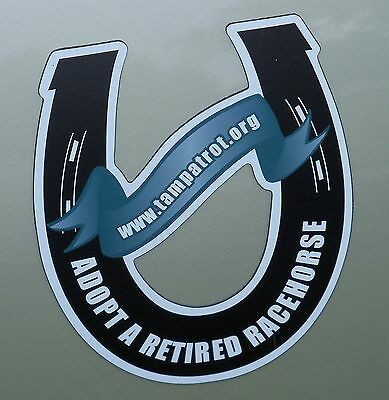 TROT Horseshoe-Shaped Car Magnet