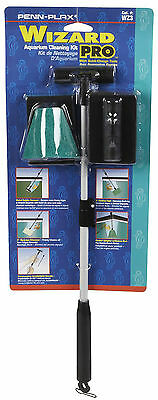 Penn Plax Wizard Pro Aquarium Fish Tank Cleaner KIt Scraper  for GLASS