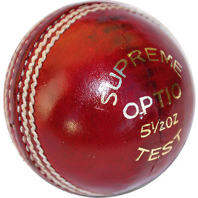 Lusum Optio Cricket Ball Mens club league match hand stitched 4 piece leather