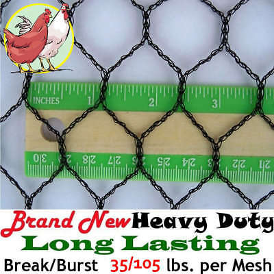 """1"""" 12' x 100' POULTRY AVIARY GAME BIRD LIGHT NET NETTING -View our eBay STORE!!!"""