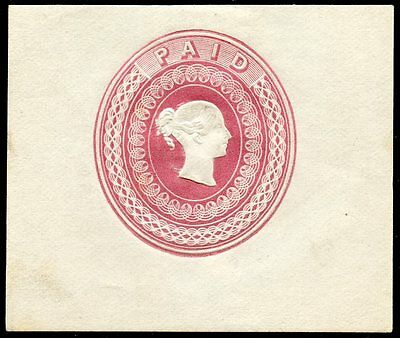 """RARE 1848 postal stationery essay by Charles Whiting with """"Wyon"""" type head"""