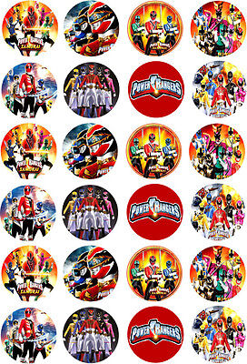 Power Rangers Cupcake / Fairy Cake Edible Wafer Paper Toppers x 24
