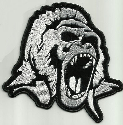 Angry Gorilla Head Motorcycle Jacket Vest Biker Patch