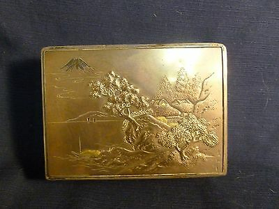 Beautiful Signed Japanese Signed Silver  Box