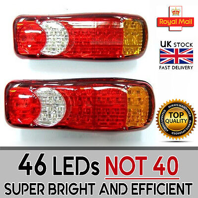 24v Led Rear Tail Lights Truck Trailer Chassis Lorry Transporter Set Of 2