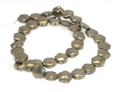 """10MM PALAZZO IRON PYRITE GEMSTONE CARVED ROSE FLOWER FLORA LOOSE BEADS 15.5/"""""""