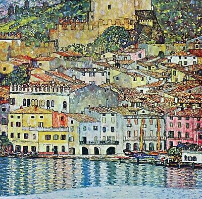 Malcena at the Gardasee by Gustav Klimt Giclee Fine Art Print Repro on Canvas