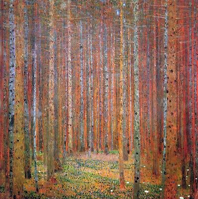 Tannenwald I by Gustav Klimt Giclee Fine Art Print Repro on Canvas