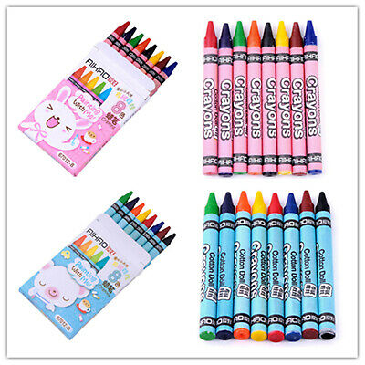 8 Colours/Set No-Toxic Crayons Children Kids Gift Colorful Stick Free Shipping