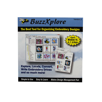 BuzzXplore V2 Machine Embroidery Software by Buzz Tools