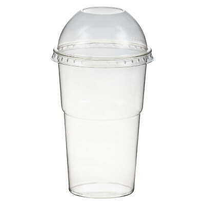 Smoothie Cups Dessertbecher + Domdeckel 250 ml Ø78mm PET glasklar Becher
