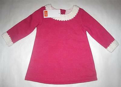 New baby girls  dress christmas pink age 3-6 6-9 9-12 12-18 months next party