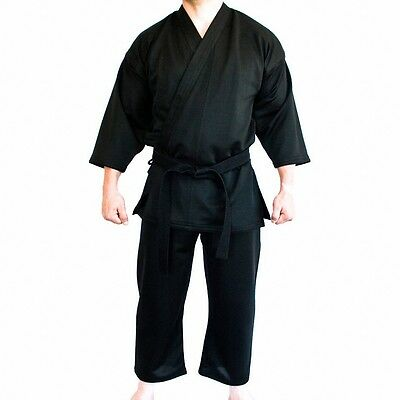 16oz -KARATE UNIFORMS   BLACK CANVAS MATERIAL  SIZE 5/180