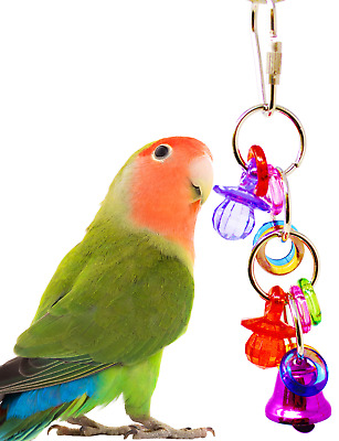 1743 TINI TINGLE BIRD TOY parrot cage craft toys cages cockatiel budgie lovebird