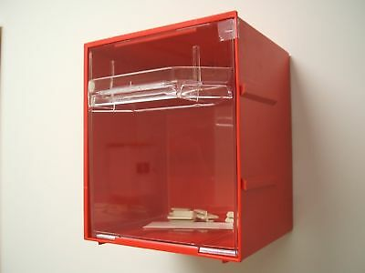 Fischer Plastic Products Visi Pak Modular Storage System Large 1H-042 RED