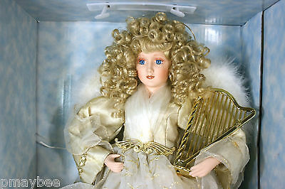 """Angel Doll Porcelain 25"""" Tall Special Edition Prima Creations, Inc. Fine Bisque"""
