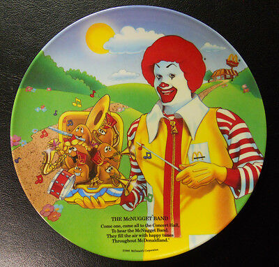 VINTAGE! 1989 McDonald's Plate-The McNugget Band