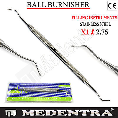 Dental Composite Filling Instruments Ball Burnisher Restorative Dentistry Lab CE