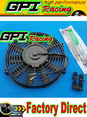 """NEW 12"""" inch 12V Universal Electric Radiator RACING COOLING Fan + mounting kit"""